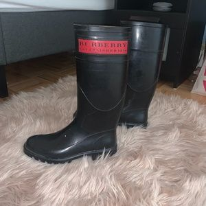 Authentic Burberry Red Logo Rain Boot